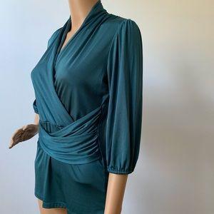 New York & company stretch V-neck blouse